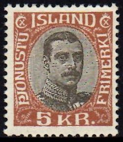 1920/30 Official 5 Kr Brown