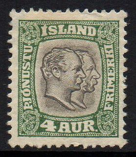 1907 Official 4a Green (M/M)