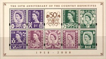 2008 Anniv. of Country Definitives M/S