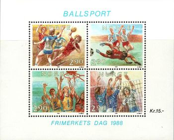 1988 Stamp Day - Ball Sports M/S