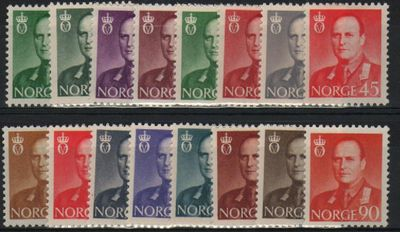 1958 to 1962 King Olav V Set