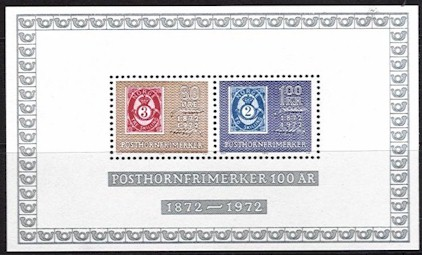 1972 Posthorn Stamps M/S