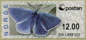 Butterfly Labels Common Blue 12.00 Kr.