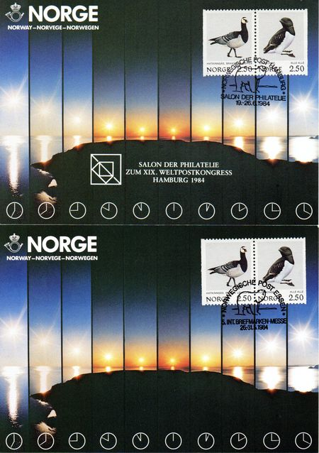 1984 Norway Exhibition Card Set (6)