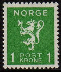 1940 Lion Rampant 1 Kr Green