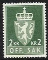 2 Kr Dull Green (Ord.)
