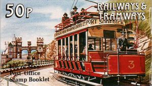 1991 50p Railways & Trams Booklet
