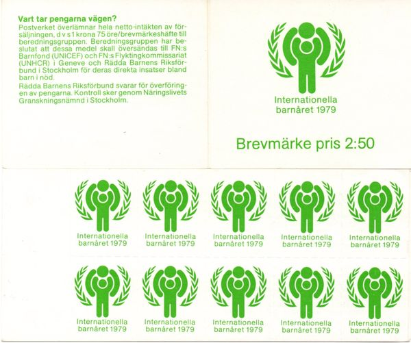 Sweden 1979 Year of the Child - Charity Labels