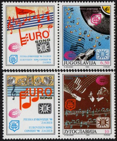 1990 Eurovision Song Contest + Labels
