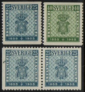 1955 First Postage Stamps
