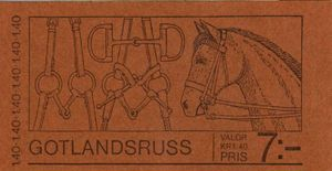 1977 Gotland Ponies - Click Image to Close