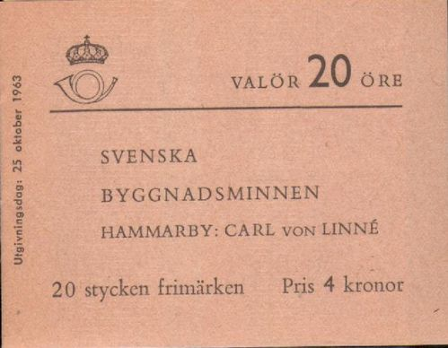 1963 Swedish Monuments (2nd Issue)