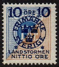 10ø + 90ø on 1 Kr. Blue & Brown