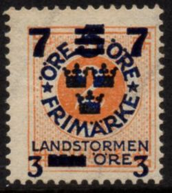 Overprint on 2ø Orange