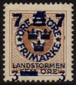 Overprint on 3ø Brown