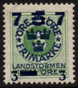 Overprint on 5ø Green