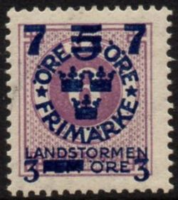 Overprint on 6ø Mauve
