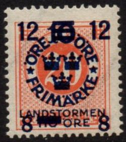 Overprint on 20ø Vermilion