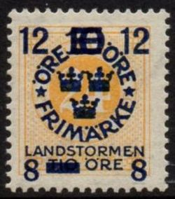 Overprint on 24ø Yellow
