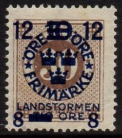 Overprint on 30ø Brown