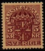 5 Kr Purple on Yellow