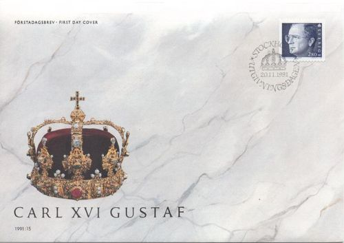 1991 King Carl XVI Gustav Definitive