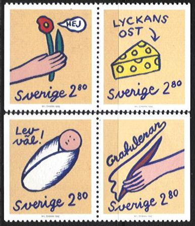 1992 Greetings Stamps