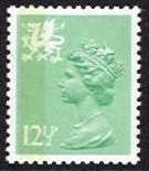 12½p Pale Emerald Perf 14