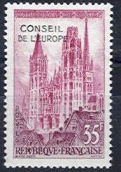 1958 Council of Europe Overprint