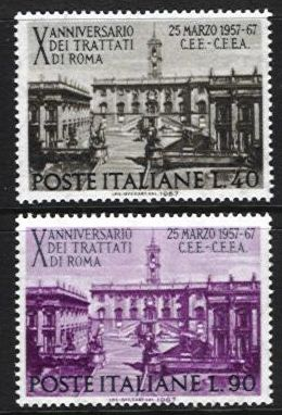 1967 10th Anniv. of Rome Treaty
