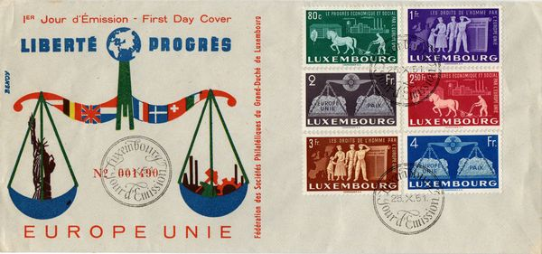 1951 United Europe Illustrated FDC