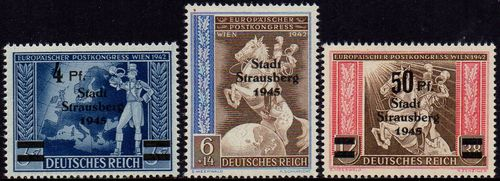 1945 European Postal Congress Local Post Overprint