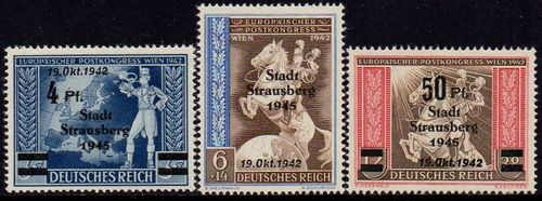1942 European Postal Congress Overprints (Local)