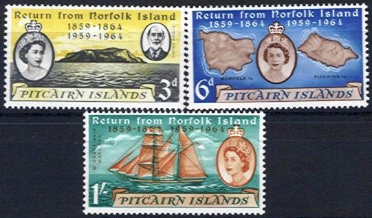 1961 Return of Pitcairn Islanders (M/M)