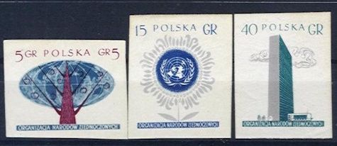 1957 United Nations (Imperforate)