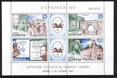 "1980 ""Espamer 80"" Stamp Exhibition M/S"