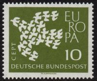 Europa Stamps 1961