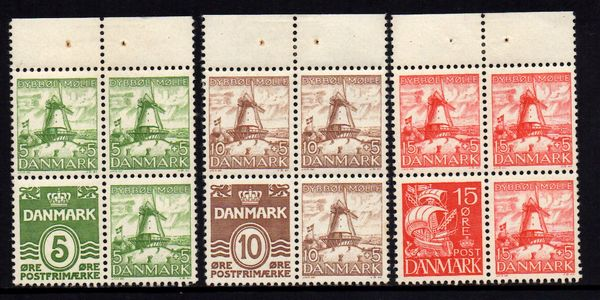 1937 Dybbol Mill Booklet Panes x 3