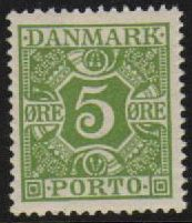 1921 Postage Due - 5ø Apple Green