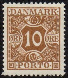 1921 Postage Due - 10ø Brown