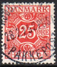 1921 Postage Due - 25ø Red