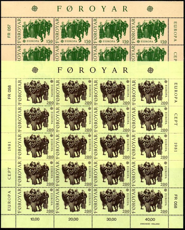 1981 Faeroe Islands (Sheets)