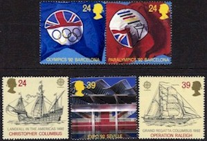 1992 Great Britain (5v)