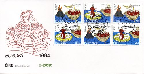 1994 Faroes/ Iceland/ Ireland Joint Issue FDC