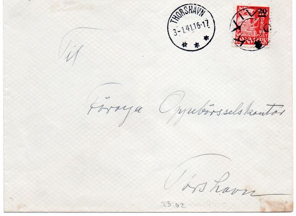 British Occupation 1941 Cover to Thorshavn (1)