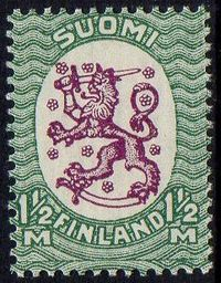 1½ Mk Purple & Green