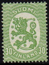30p Yellow Green Perf 14
