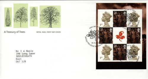 2000 A Treasury of Trees Pane FDC