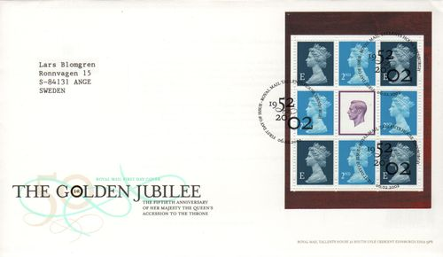 2002 The Golden Jubilee Pane FDC