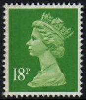 18p Bright green Centre Band